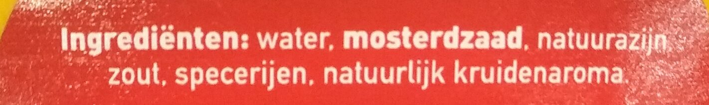 Franse Mosterd - Ingrediënten - nl