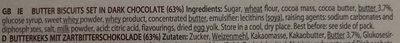 Dark Chocolate Biscuits - Ingredients - en