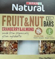 Bars fruits et nuts - Product - fr