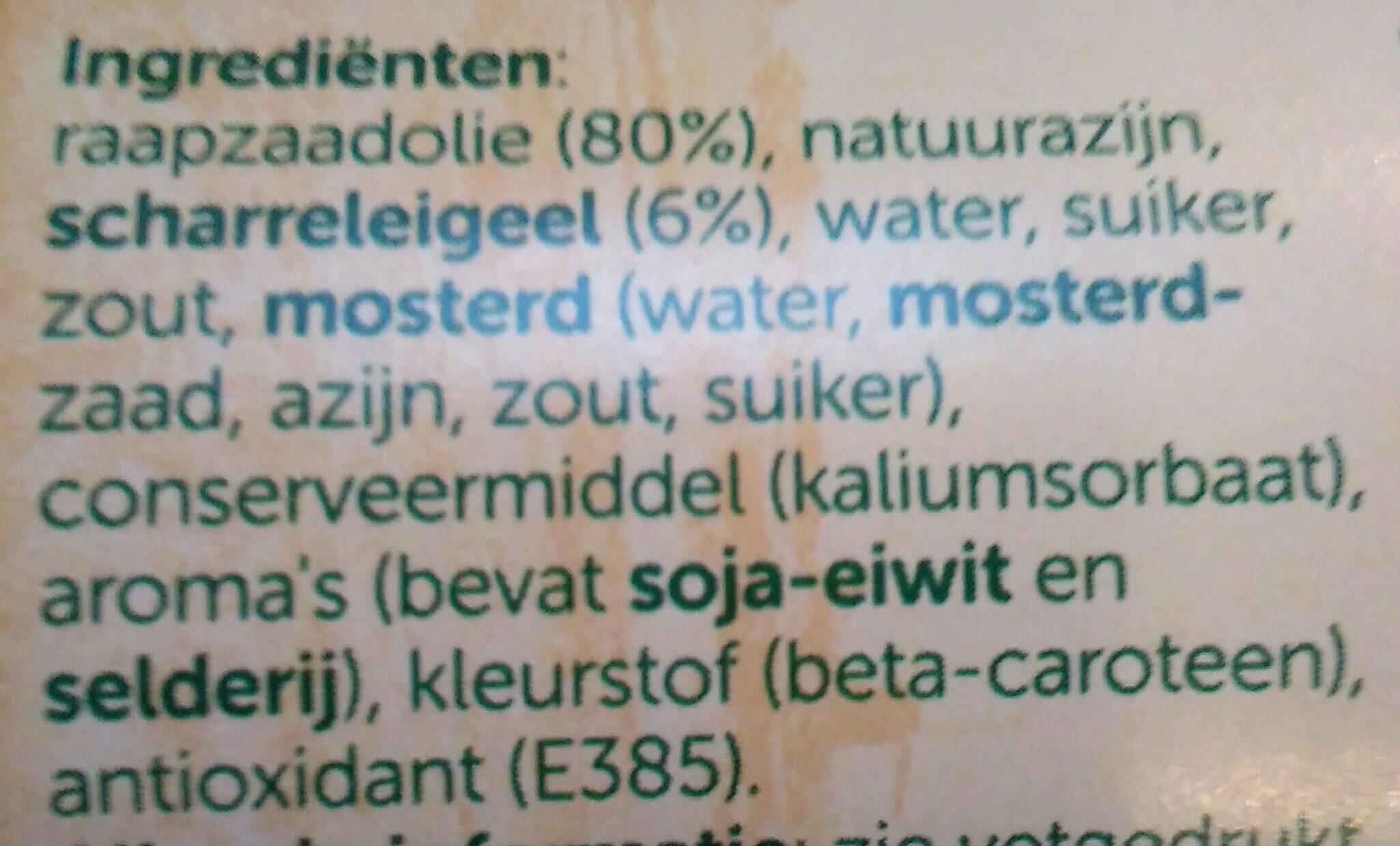 Zaanse Mayonaise - Ingrediënten - nl