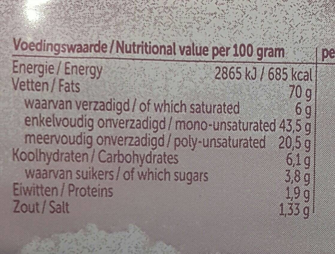 Knoflook mayonnaise - Informations nutritionnelles - fr