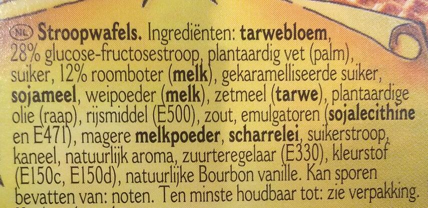 Original Stroopwafels - Ingrediënten - nl