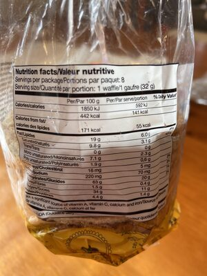 Stroopie - Nutrition facts