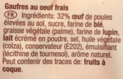 Eirwafels - Ingrédients - fr