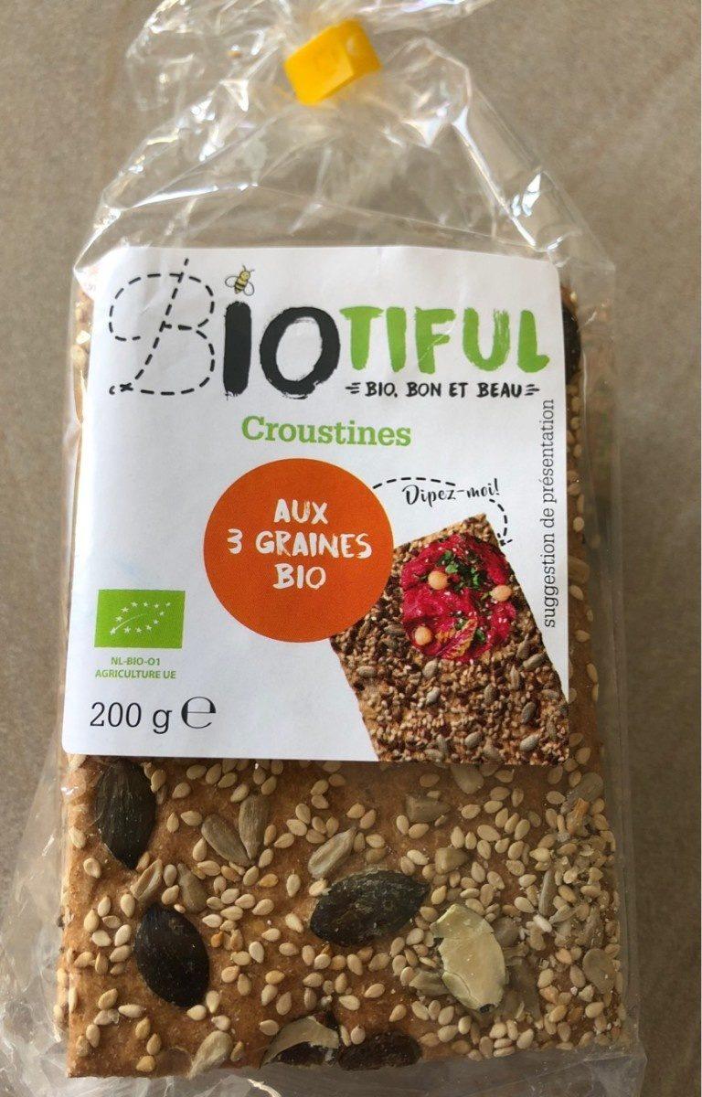 Croustines aux 3 graines bio - Product