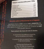 Les Craquines Emmental & Oignons - Ingrédients - fr