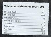 Les Craquines Emmental & Oignons - Informations nutritionnelles - fr