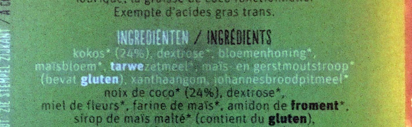 Kokosbrood naturel - Ingredients