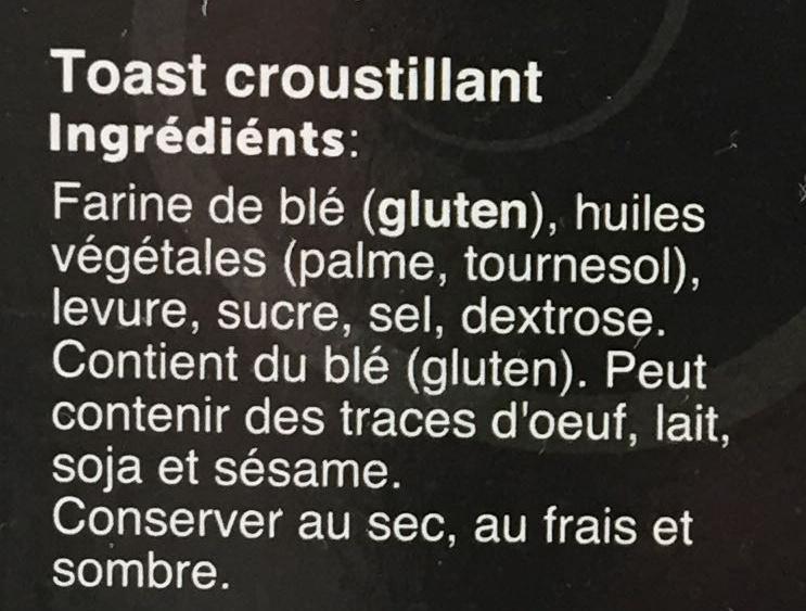 Krokante Toastjes - Ingrediënten - fr