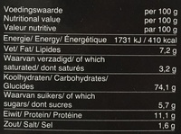 Krokante Toastjes - Voedingswaarden - fr