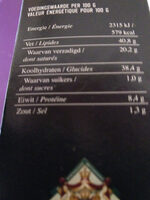 feest Pastei - Nutrition facts - fr
