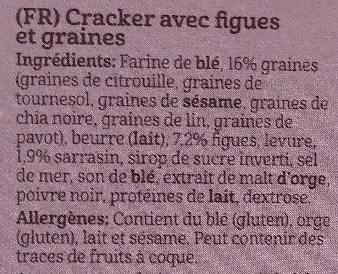 Flatbread vijgen en zaden - Ingrédients - fr