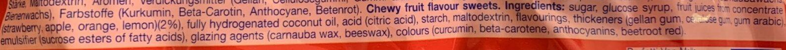 Mini Mentos Fruit Mix - Ingredienti - en