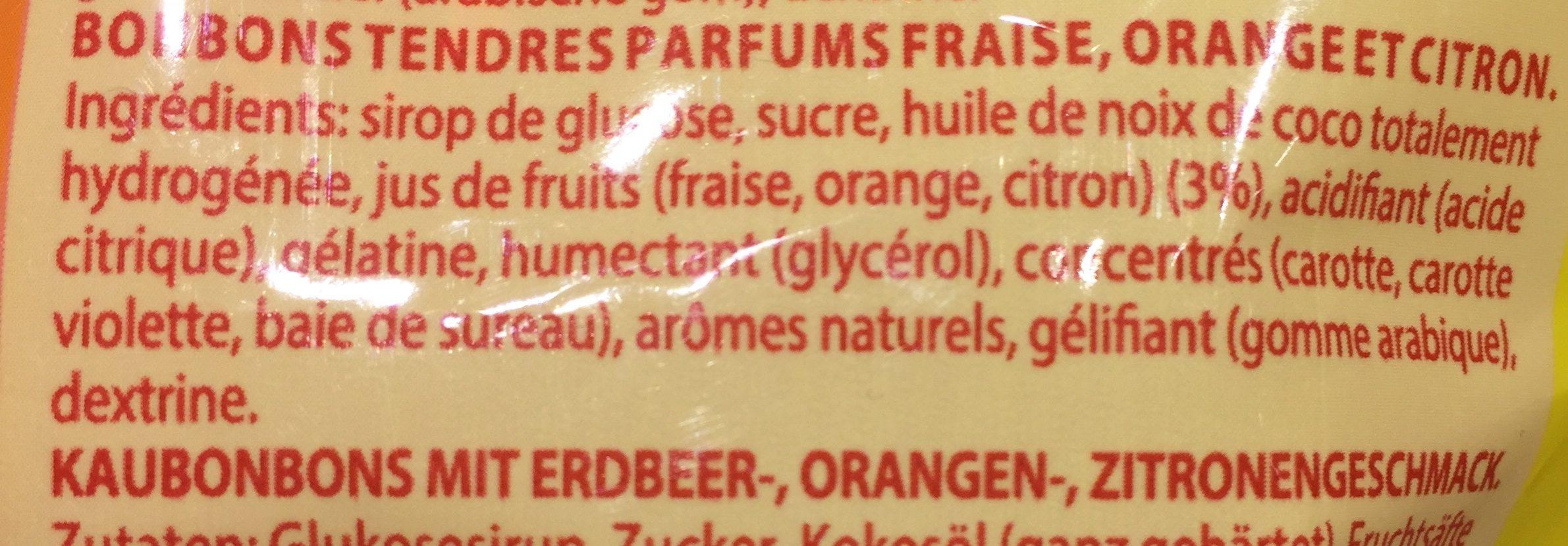 Fruitella - Ingrédients - fr