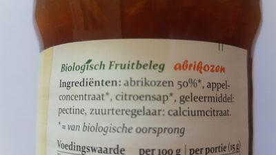 Biologisch Fruitbeleg abrikozen - Ingrediënten - nl