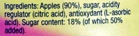 Botany Applesauce - Ingredients