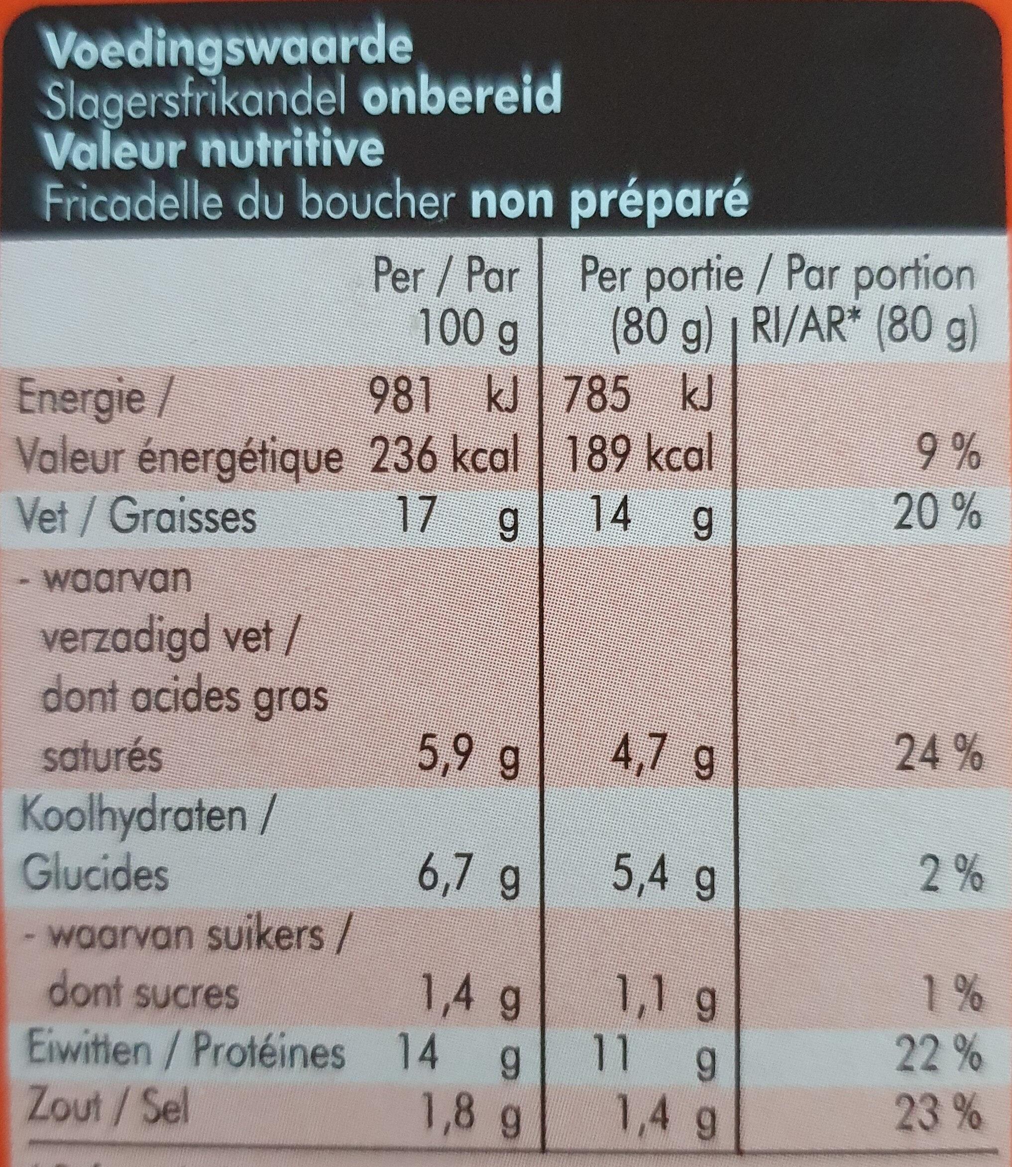 Slagers Frikandellen - Nutrition facts - nl