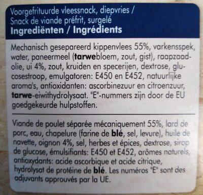 Frikandel, Ofen - Ingrédients - fr