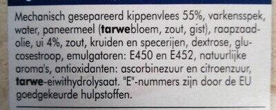 Frikandel, Ofen - Ingredients - nl