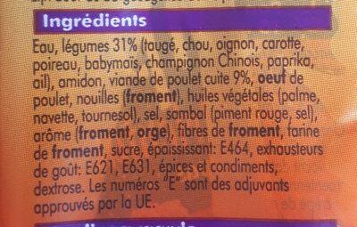 Loempia Poulet Oriental - Ingrediënten