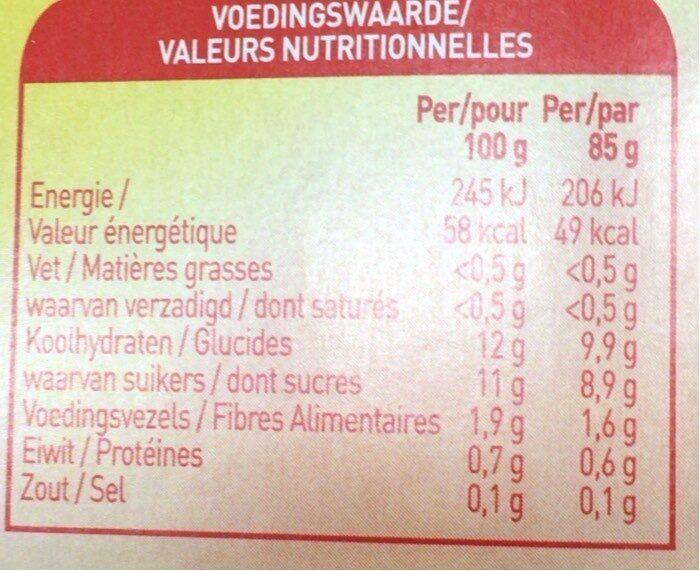 Gourde de fruit - Voedingswaarden - fr