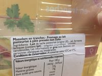 Maasdam en tranches - Ingrediënten - fr