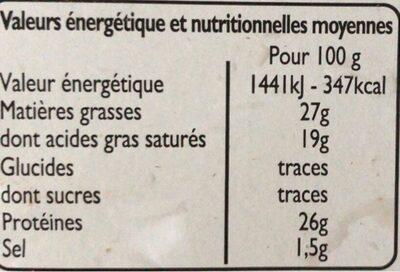 Maasdam en tranches - Voedingswaarden - fr