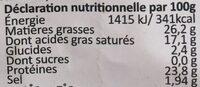 Gouda mimolette rape - Informations nutritionnelles - fr