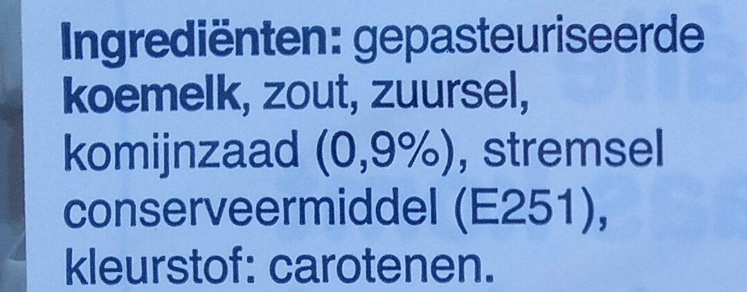 Jong Komijn Gouda 48+ Kaas - Ingrediënten