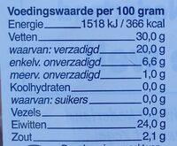 Jong Komijn Gouda 48+ Kaas - Voedingswaarden