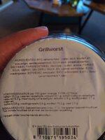 grillworst - Ingredients - en