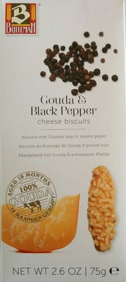 Gouda & Black Pepper cheese biscuits - Produit - fr