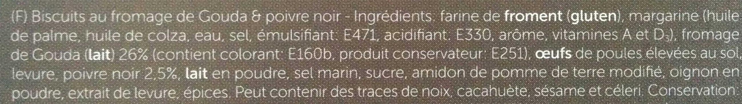 Gouda & Black Pepper cheese biscuits - Ingrédients - fr