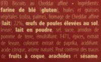 Buiteman Kerst Cheddar Kaasbiscuits - Ingrédients
