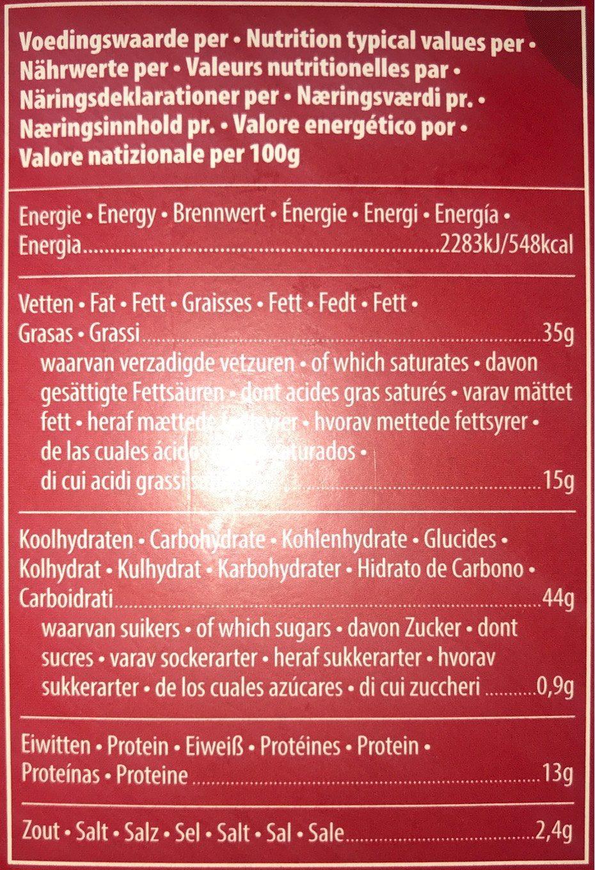 Buiteman Kerst Cheddar Kaasbiscuits - Informations nutritionnelles