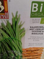 Organic cheese biscuits with matured gouda and chive - Product - fr