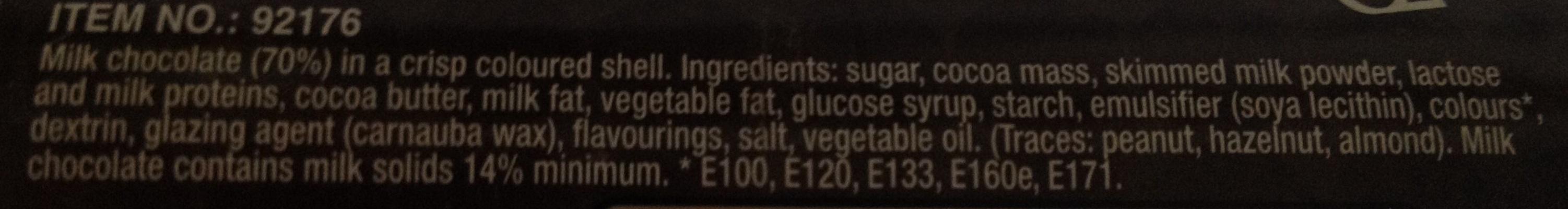 Candy Fan - Ingredients