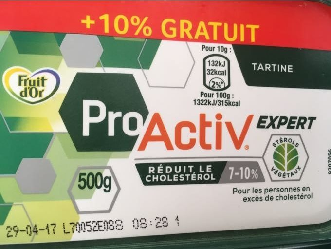 Margarine Fruit d'Or Pro activ tartine - Produit - fr