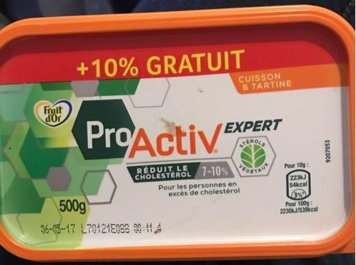 Margarine Pro Activ Fruit d'Or Cuisson et Tartine - Produit - fr