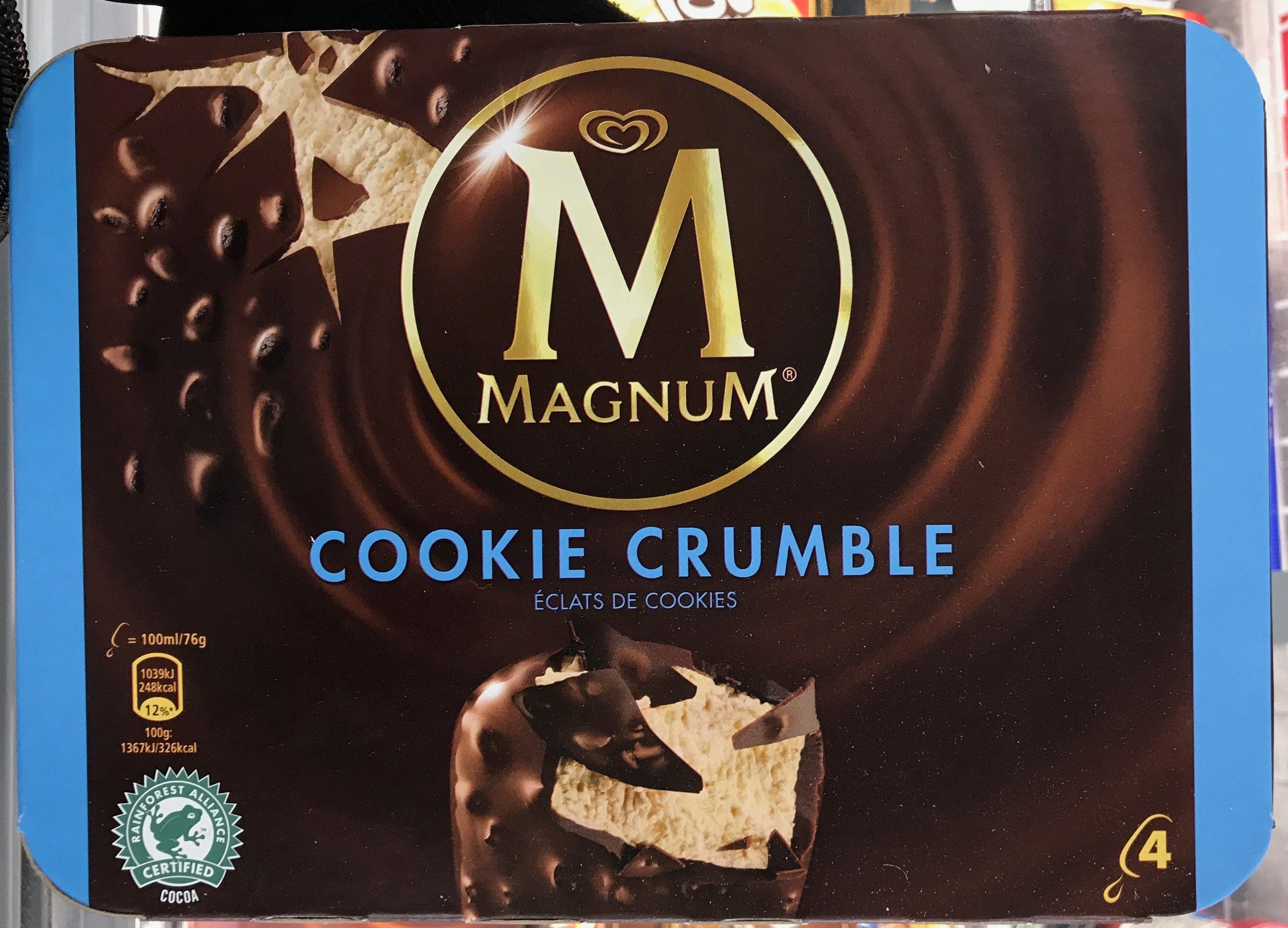 Magnum Batonnet Glace Cookie Crumble x4 - Produit - fr
