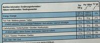 Magnum Batonnet Glace Cookie Crumble x4 - Informations nutritionnelles - fr