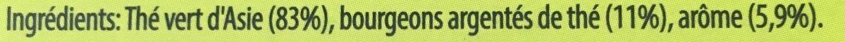 Lipton Thé Délice d'Asie 25 Sachets - Ingrédients
