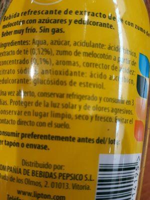 Ice TEA - Ingredients