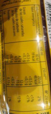 Ice TEA - Informació nutricional
