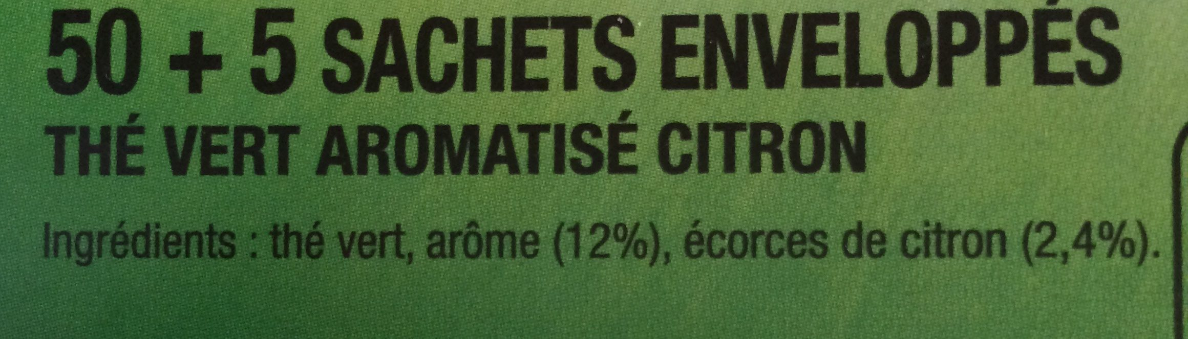 Thé Vert Citron - Ingredients