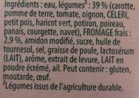 Velouté de 12 légumes - Ingrédients