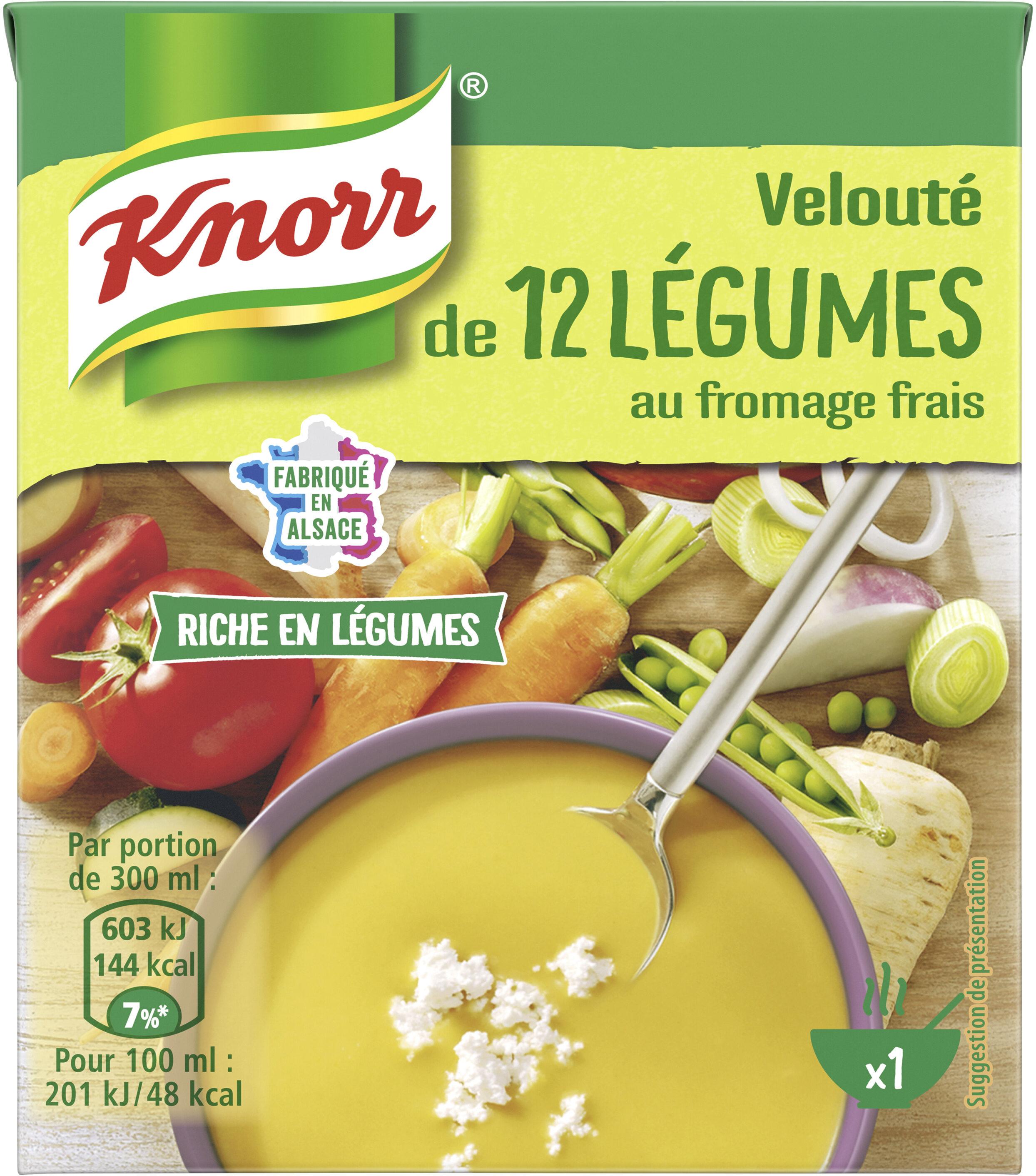 Knorr Soupe Velouté de 12 Légumes au Fromage Frais 30cl - Produit - fr
