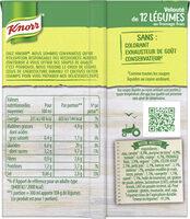 Knorr Soupe Velouté de 12 Légumes au Fromage Frais 30cl - Ingrédients - fr