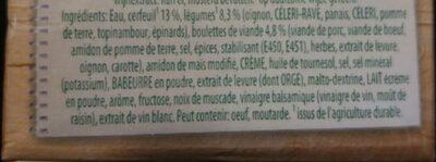 Soupe de cerfeuil avec boulettes - Ingrediënten - fr