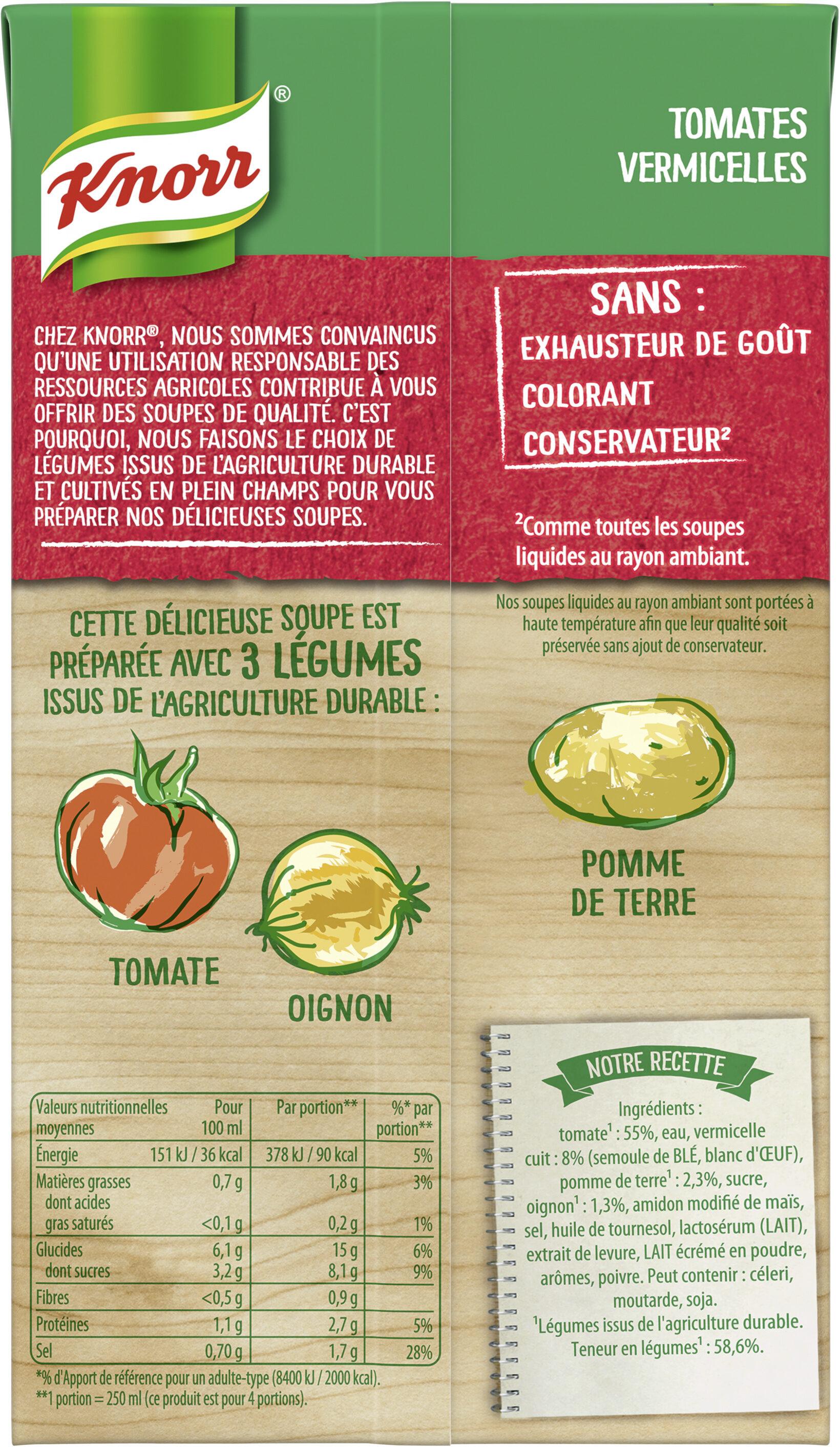 Knorr Soupe Tomates Méditerranéennes Vermicelles 1l - Ingredients - fr